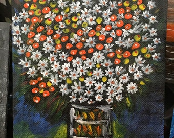 Bouquet of Flowers in Acrylic paint