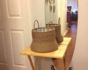 Large Braided Rope Basket