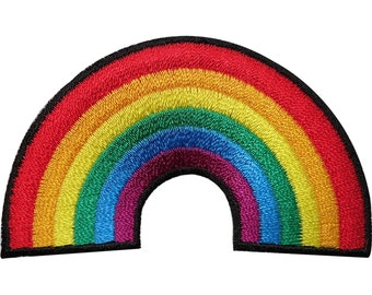 Rainbow Embroidered Iron / Sew On Patch Clothes T Shirt Gay Pride Badge Transfer