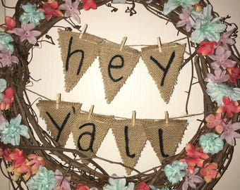 Hey Y'all Wreath perfect for spring & summer decor!