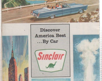 Road Map Milwaukee and Vicinity SINCLAIR 1966 by Rand McNally