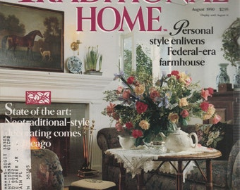 Traditional Home BHG Magazine August 1990 Time Travelers/ Lace & Linen