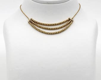 14k Gold handmade bead necklace