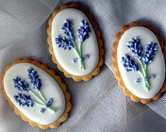 Lavender sugar cookies