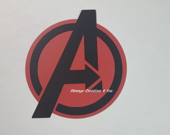 Marvel Avengers Emblem, Diecut, Paper Piecing for scrapbooking