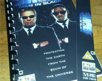 VHS Handmade Notepad - MEN In BLACK