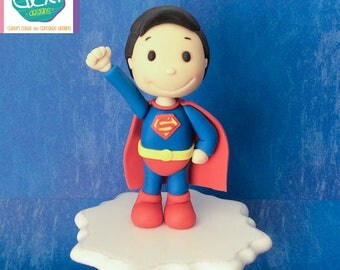 Edible Fondant Superman Cake Topper