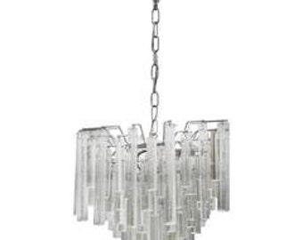 Chandelier with cascading pendants, Paolo Venini, 1960, Italy