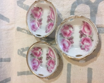 Set of 3 butter pat dishes