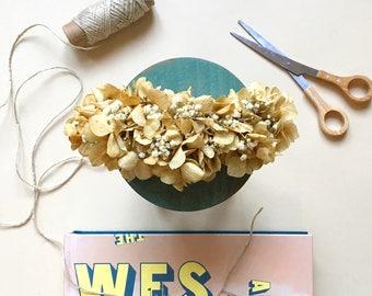 Naturally preserved boho flower headpiece - Flower hair clip - tocado de flores preservadas - boho bridesmaids & boho brides headpiece