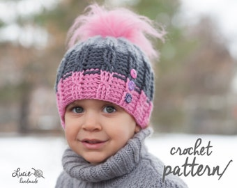 Crochet Hat PATTERN No.73 - Elastic Uni Plait Winter Hat Crochet Pattern