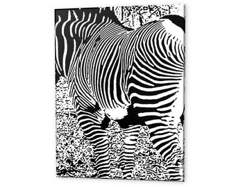 "Limited Edition ""Zebra"" Artistic Photography Canvas Print - 10% of Proceeds for Charity"