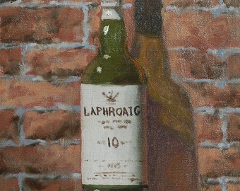 "Original oil painting ""Laphroaig 10"" 10x8 oil on linen"