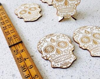Mexican Sugar Skull Coasters