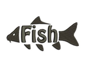 Fish Embroidery design - Carp - Machine embroidery design