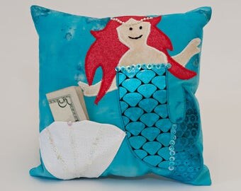 Mermaid Tooth Fairy Pillow