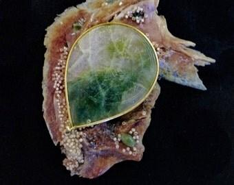 Fishbone Jade Sculpture