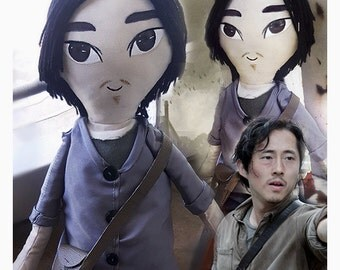 TWD Glenn inspired cloth doll, The Walking Dead Handmade Art Doll