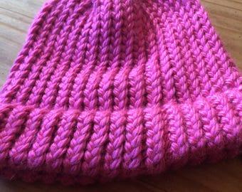 Winter beanie (pink)