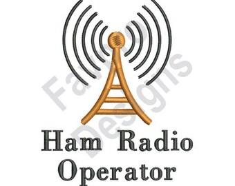 Ham Radio Operator - Machine Embroidery Design