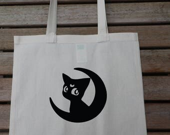Sailor Moon Cat Tote Bag, Cotton Fashion Bag, Carrier Bag, Market Bag, Funny Tote, Gift For Her 49