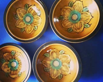 Electra Casual Ceram Stoneware La Fleur bowls