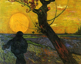 Sower With Setting Sun- Van Gogh Oil Painting Museum Quality Reproduction: