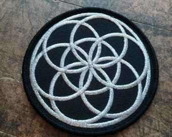 Seed of Life Patch Embroider