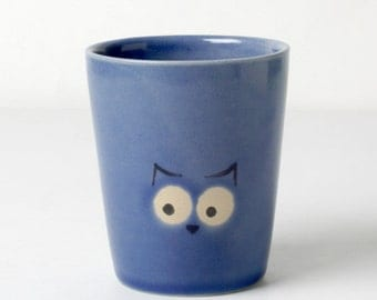 Blue kids cups OWL gifts for children