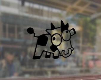 Cow Farm Milk JDM Vinyl Stickers Funny Decals Bumper Car Auto Computer Laptop Wall Window Glass Skateboard Snowboard Helmet