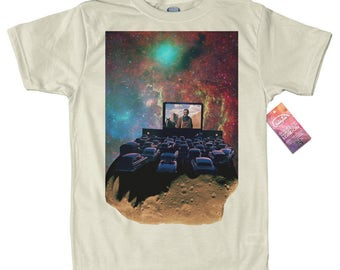 Asteroid Cinema T shirt, Space Collages