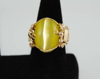 Yellow Fiber Optic Ring