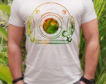 Space suit tee -  Art t-shirt - Fashion men's apparel - Colorful printed tee - Gift Idea