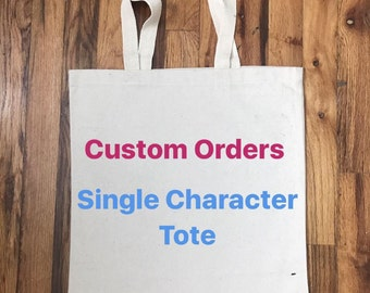 Single or Double Character Tote Bags