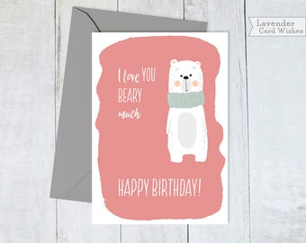 Card for wife Cards for girlfriend Bday card Cute love card Funny birthday card Love you funny card Printable cards Friend birthday card