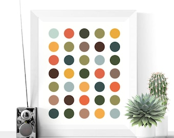 Mid Century Modern Art Printable | Polka Dots | Abstract Art | Mid Century Modern Print | Polka Dots Print | Wall Art | Dots Art Print