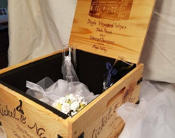 Wedding box,card holder,memory box, time capsule, conversation pc. Felt lining