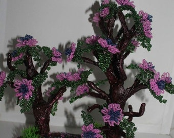 Flowering tree bead and wire
