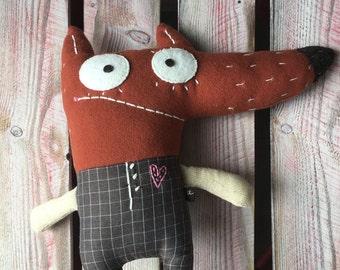Handmade Wolf Soft Toy
