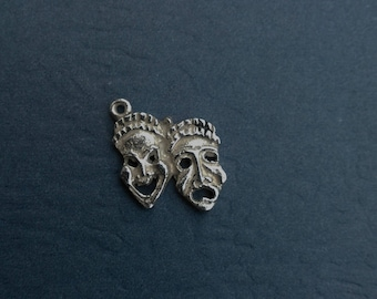 Sterling Silver Tragedy And Comedy Charm