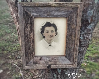 "Barn wood, rustic country, picture frame, farmhouse decor, country decor, rustic style, 15"" x 13"", wood picture frame, country style,"
