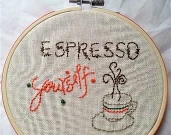 Espresso Yourself Hoop Art