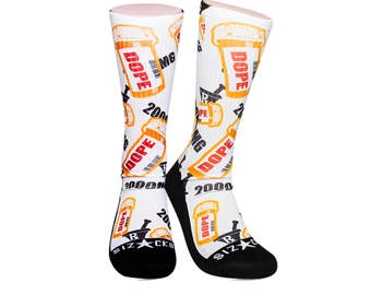 Handmade Sublimated Socks style Medicated