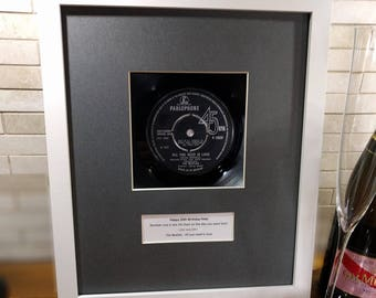 The Beatles - Lady Madonna, 50th Birthday, 50th Anniversary Gift or Golden Wedding Gift, 1968, Framed Vinyl, Personalised, Parents