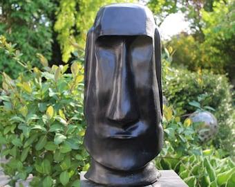Novelty MOAI - Tiki - Easter Island - figure - sculpture 52 cm-stone cast Frost festival black-concrete-garden pierre reconstituée hormigón Ali Antoni
