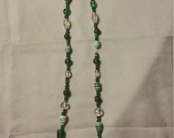 Lucky Green Multi-Size Beaded Necklace