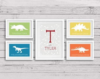 Dinosaur Print, Dinosaur Wall Decor, Printable Dinosaur, Dinosaur Wall Art, Dinosaur Name Sign, Dinosaur Room Sign, Kids Room Decor   E29