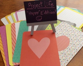 Project Life Destash-Happy Edition-20 4x6 Journaling Cards