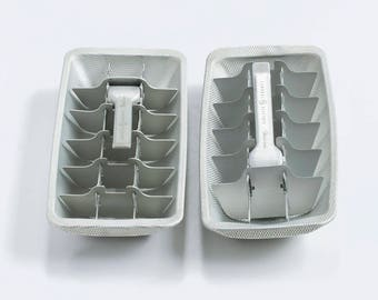 Vintage Ice Cube Makers Set of 2 / Aluminum General Electric Ice Tray