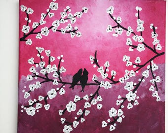Bird canvas painting 20x20